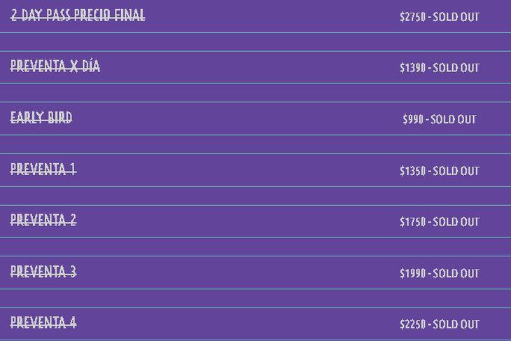 Las entradas para Lollapalooza Argentina