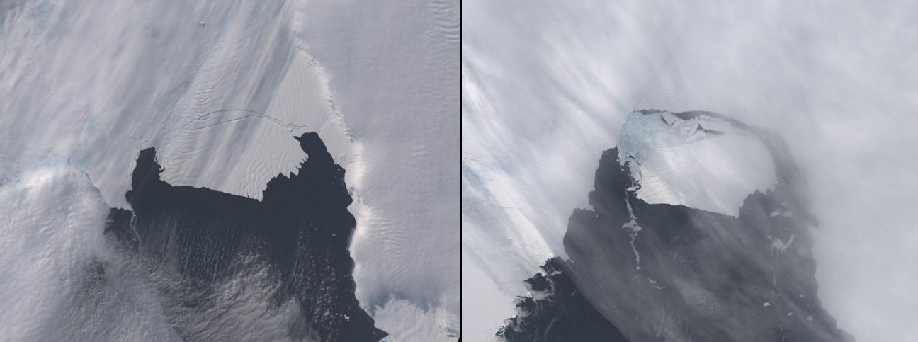 Glaciar Pine Island, en la Antártida, entre el 28 de octubre y 13 de noviembre de 2013