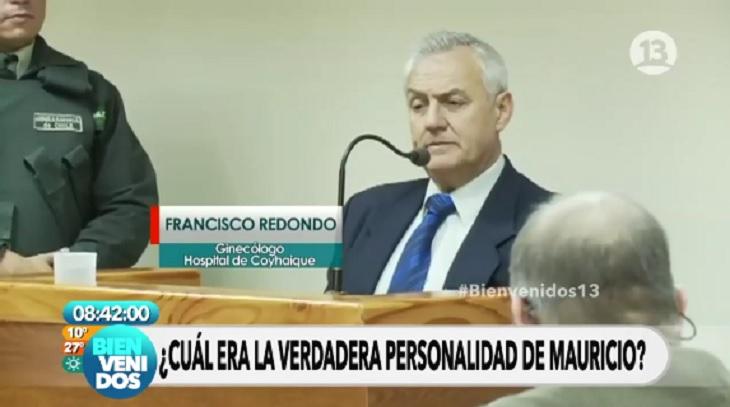 Ginecólogo dando su informe durante el juicio, en imágenes emitidas durante Bienvenidos | Canal 13