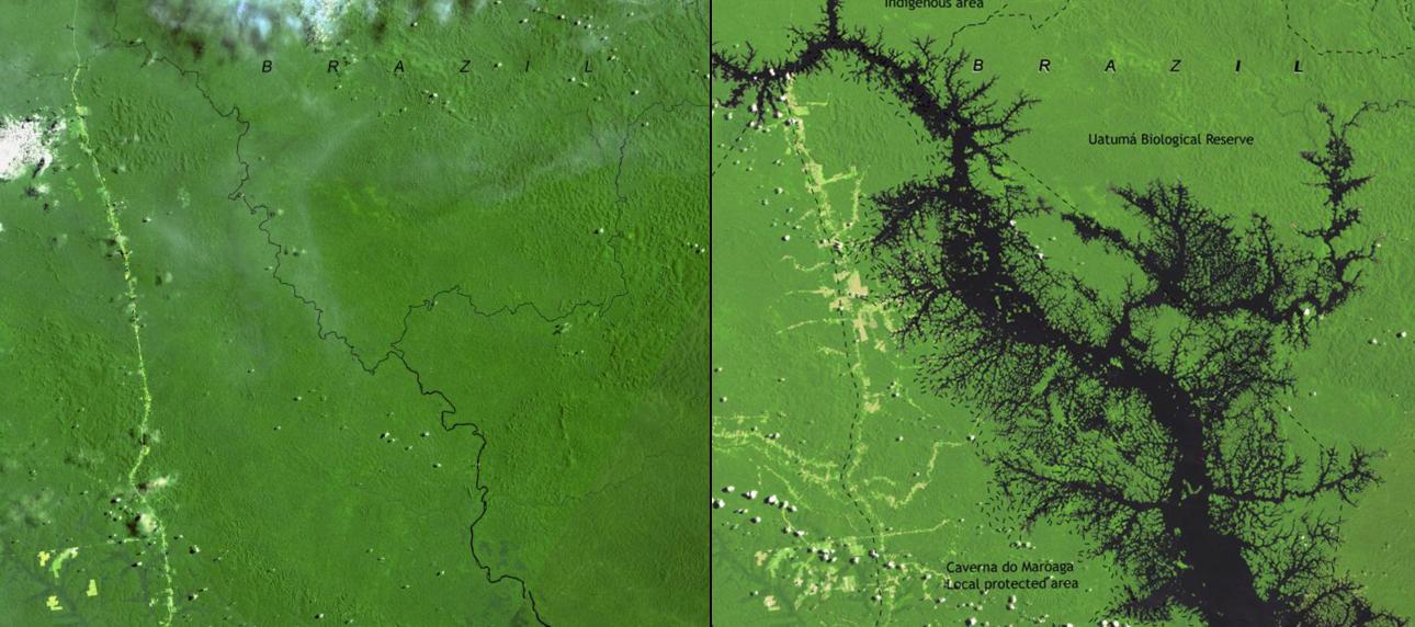 Impacto de la Represa de Balbina, Brasil, entre 1985 y 2007