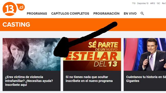 Pantallazo  | Canal 13