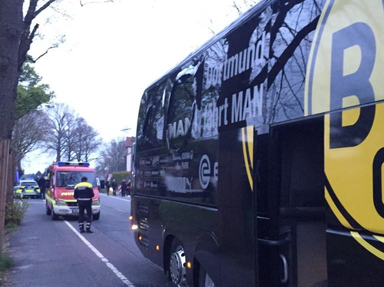 Explosión en bus del Borussia Dortmund