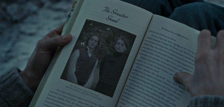 Dumbledore y Grindelwald en Harry Potter y las Reliquias de la Muerte