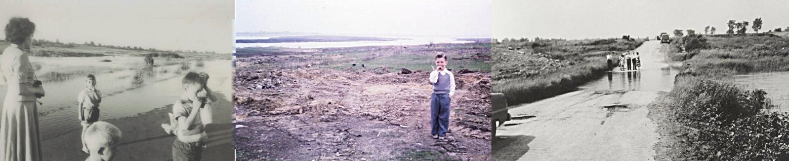 Gente viendo cómo se inundan los pueblos perdidos de Ontario en 1958 | www.lostvillages.ca