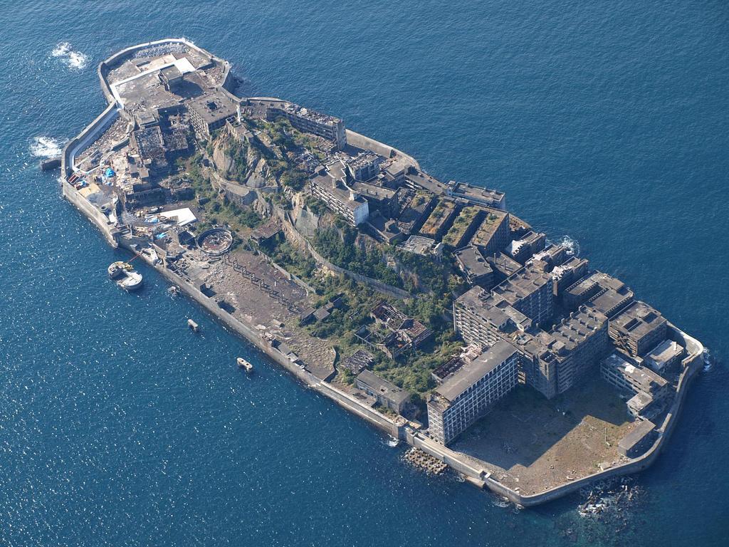 Vista aérea de Hashima | @kntrty en Flickr
