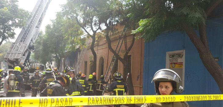 Incendio Santiago Centro   RBB