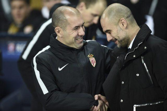 Jardim y Guardiola en octavos de la Champions | Oli SCARFF / AFP