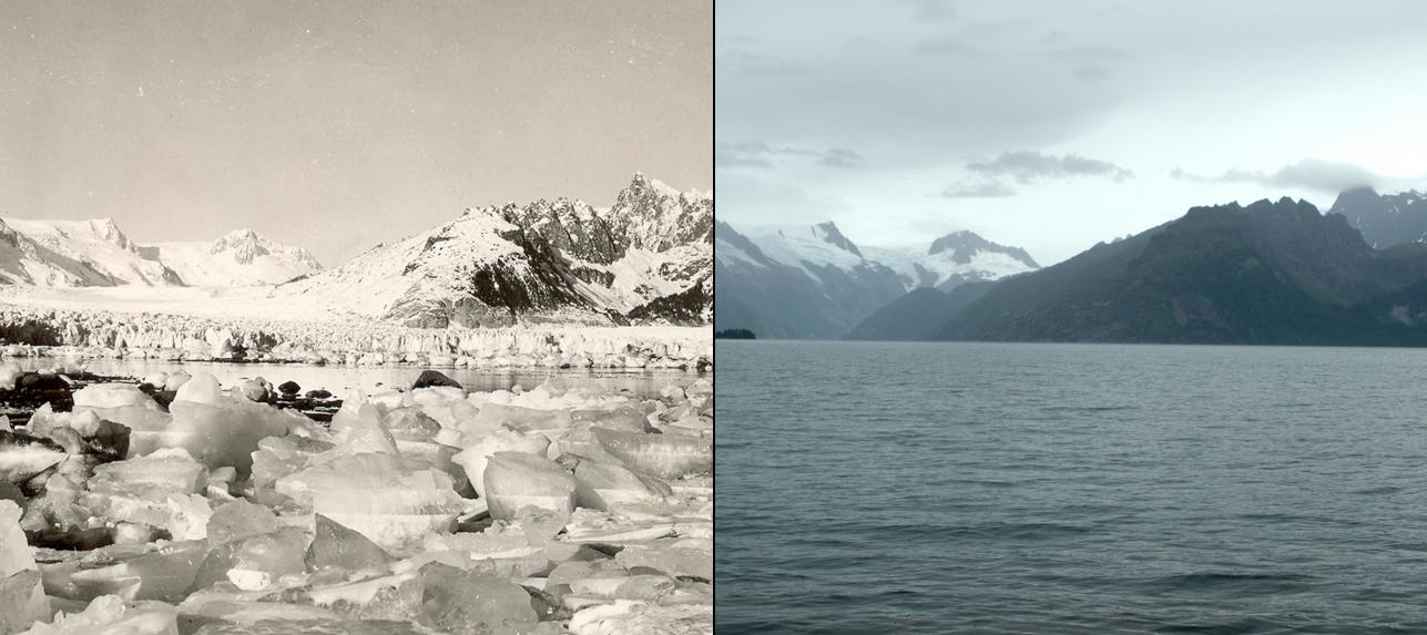 Glaciares del noreste de Alaska: invierno de 1920 al 12 de agosto de 2005 | NASA