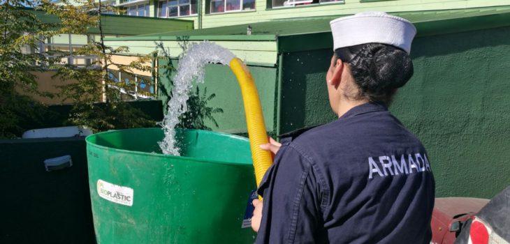 Instalan 28 Estanques Con Agua Potable Ante Emergencia