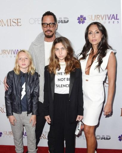 Chris Cornell y su familia / Agence France-Presse
