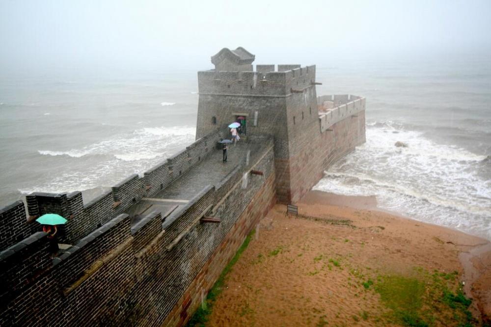 La costa de Shanhaiguan, lugar donde comienza la Gran Muralla de China.