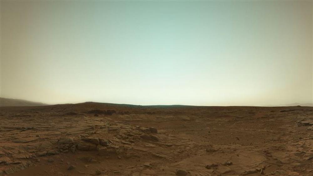 Una imagen en color de Marte, tomada por el astromóvil Curiosity.