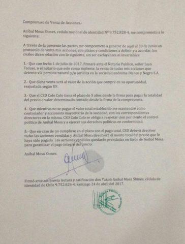 Acuerdo entre Mosa y el CSD