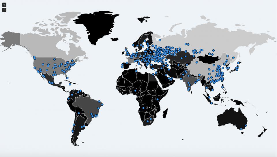 Mapa de Zonas Infectadas | MalwareTech