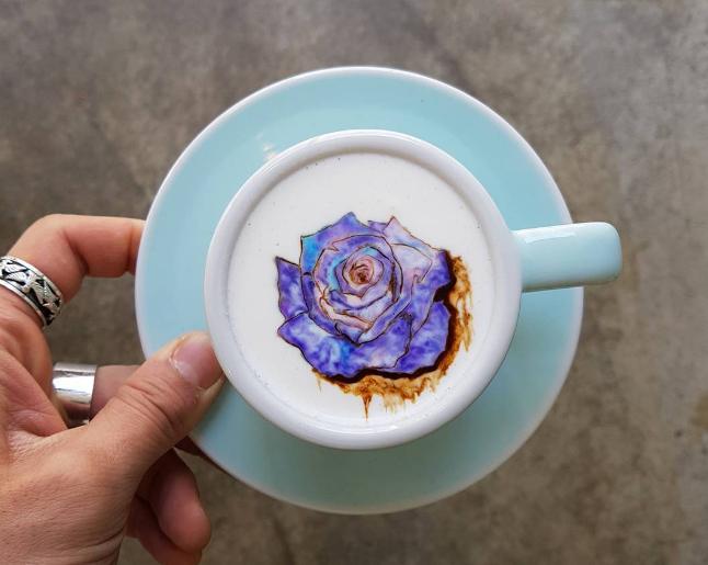 Arte sobre café de joven surcoreano | @leekangbin91 en Instagram