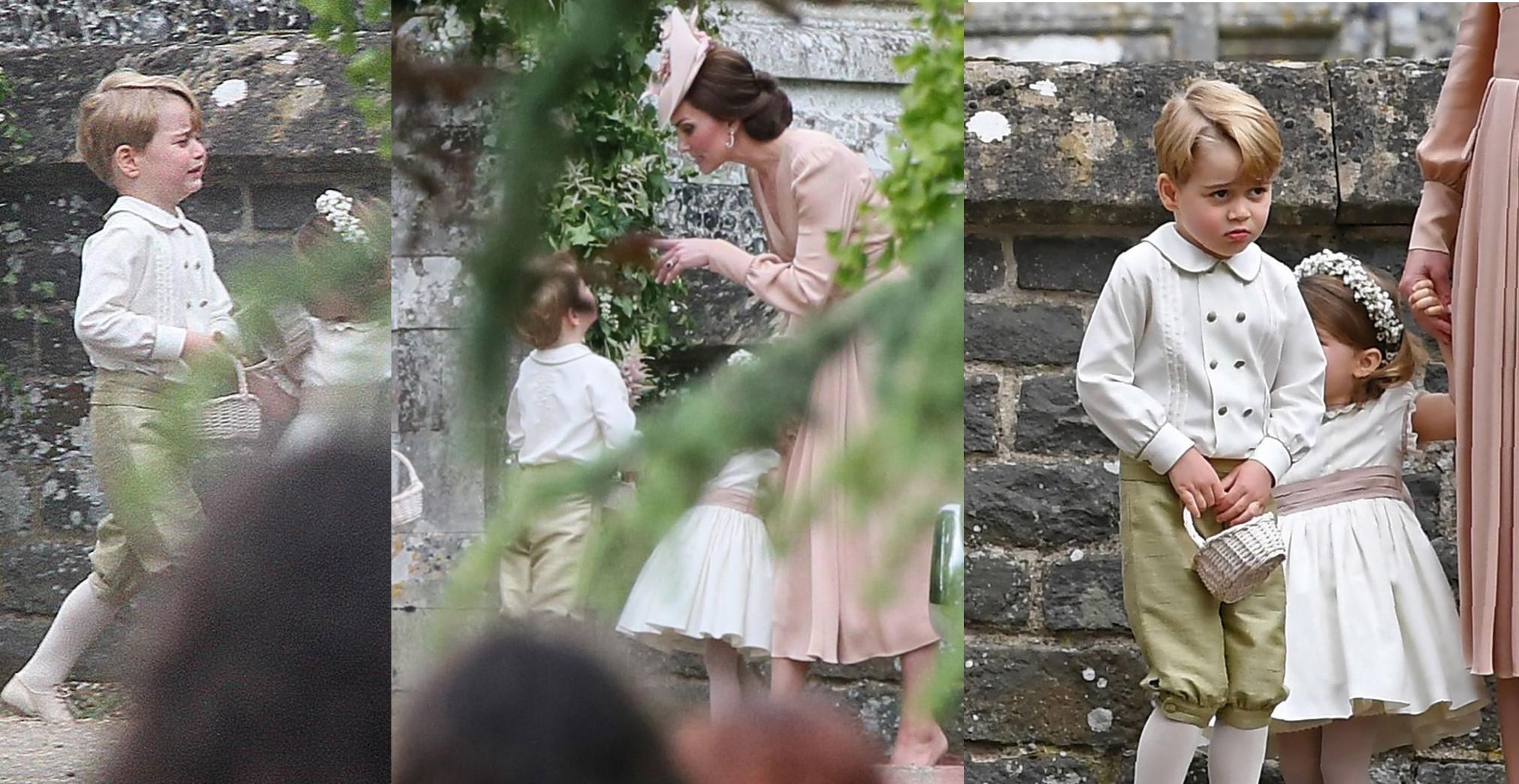 Kate Middleton hablando con su hijo