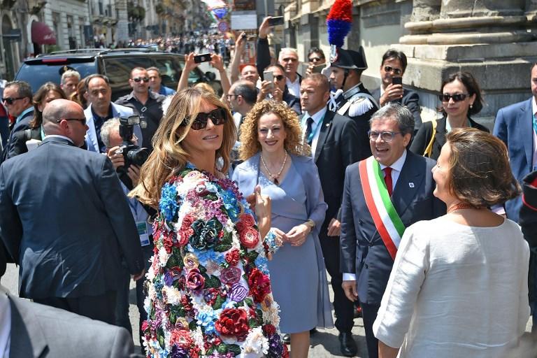Melania Trump luce chaqueta de 51 mil en Italia