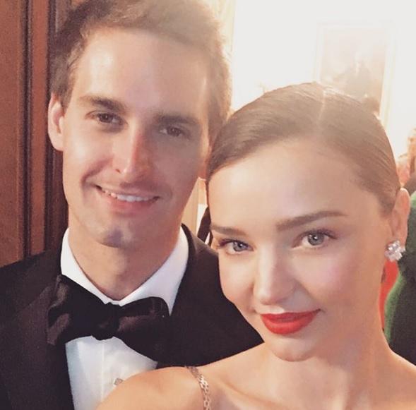 Miranda Kerr se casa con el fundador de Snapchat