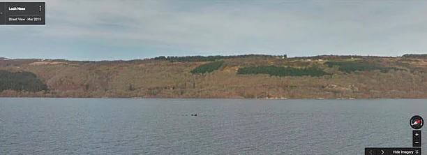 Monstruo del lago Ness supuestamente captado por Google Street View en 2015