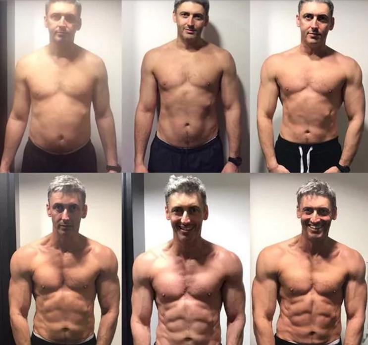 Evolución de Ben Jackson durante las 12 semanas | My Protein