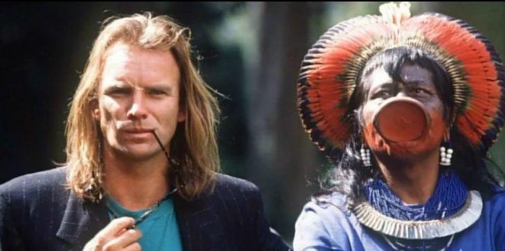 Sting y Raoni