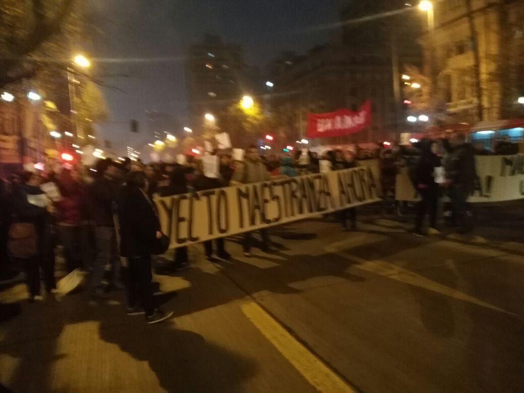 Protesta de pobladores genera gran congestión en la Alameda