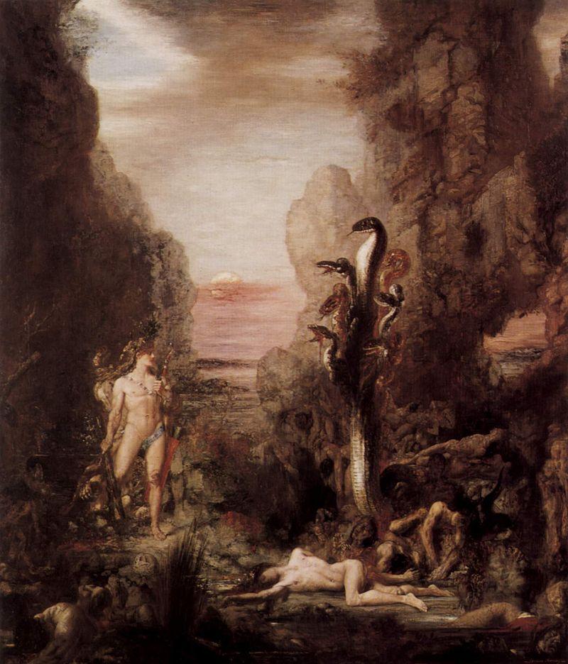 """""""Hércules y la Hidra de Lerna"""" de Gustave Moreau"""