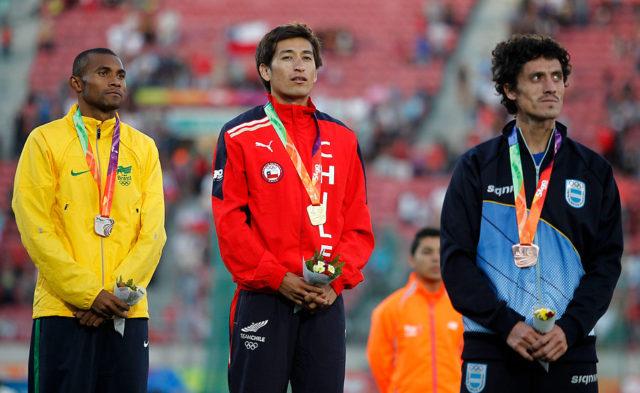 Oro de Aravena en los X Juegos Suramericanos Santiago 2014 / Agencia UNO