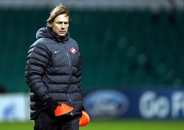 Karpin dirigiendo al Spartak Moscow / Archivo / Agence France-Presse