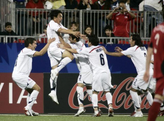 Jaime Grondona celebra gol ante Canadá / Agence France-Presse