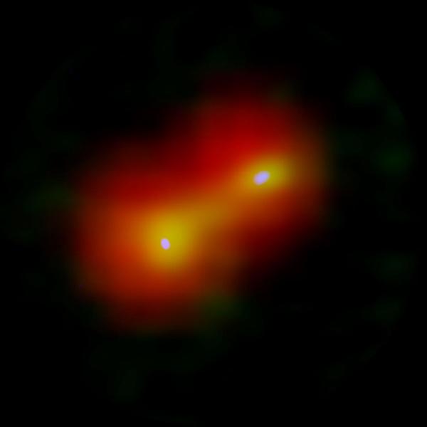 Imagen compuesta del sistema estelar binario recién nacido IRAS | ALMA (ESO/NAOJ/NRAO)