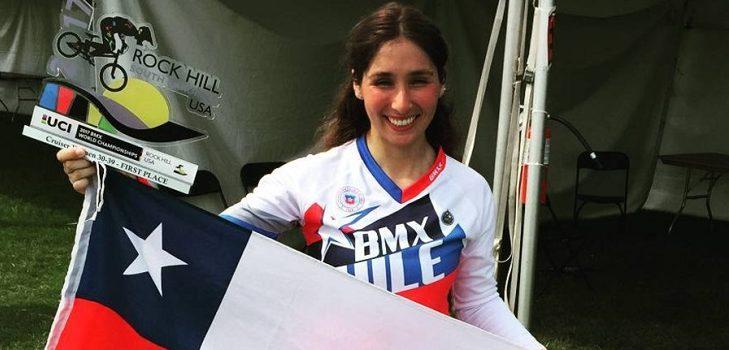 Chilena se corona Bicampeona Mundial de BMX en EE.UU