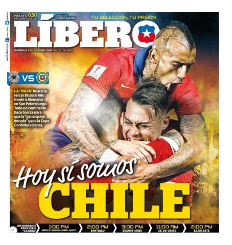 Medio peruano ahora se pone la camiseta de Chile