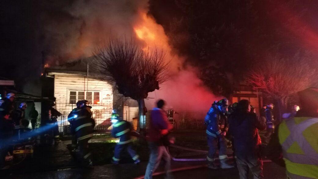 Incendio en Osorno