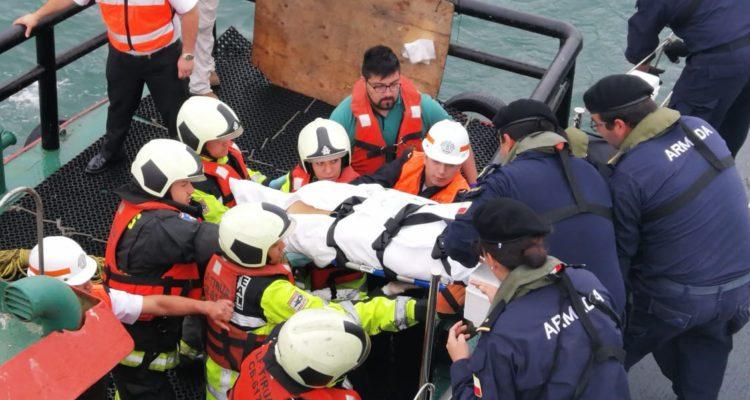 Armada evacuó a pasajera estadounidense desde crucero en las cercanías de Coronel