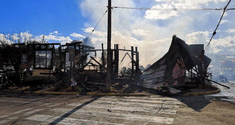 Jefe de zona en Panguipulli confirma 2 restaurantes y 10 viviendas destruidas por incendio