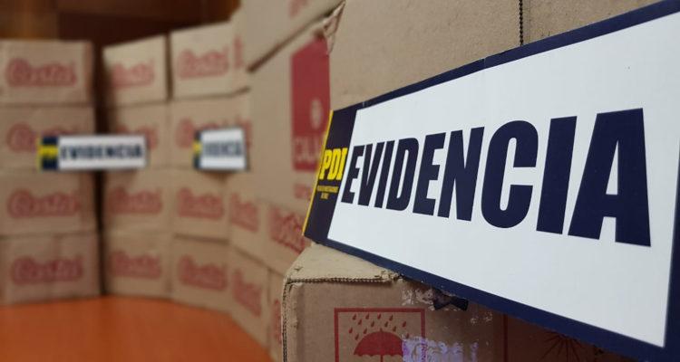 PDI logró recuperar 2.5 millones de pesos en golosinas robadas en Mulchén