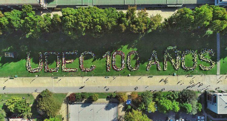 La imagen aérea con que la Universidad de Concepción celebró sus 100 años de historia