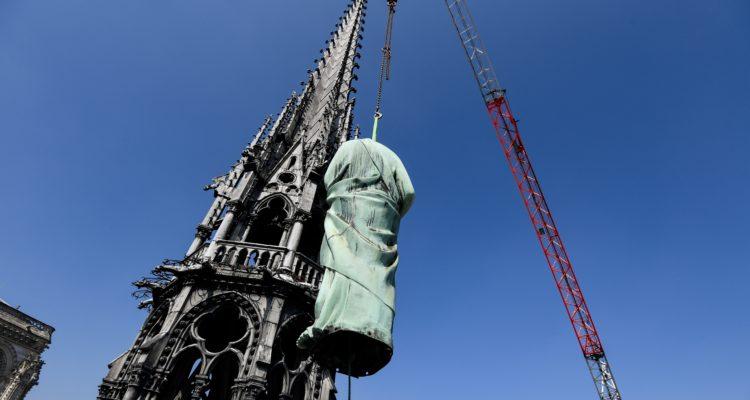 Así eran las costosas obras de restauración en la catedral de Notre Dame antes del violento incendio