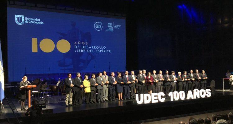 UdeC celebra centenario en Teatro Regional del Bío Bío con miras a futuro y planes de crecimiento