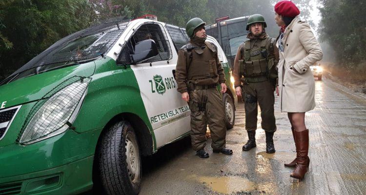 Fiscalía investiga ataque a patrulla de Carabineros en fundo de Valdivia