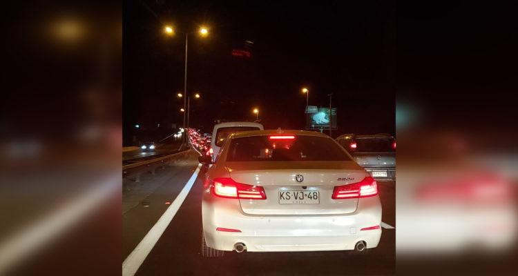 Alta congestión en retorno de automovilistas a Santiago por Ruta 68