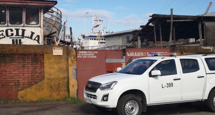 Hombre muere al interior de garita en varadero San Vicente de Talcahuano