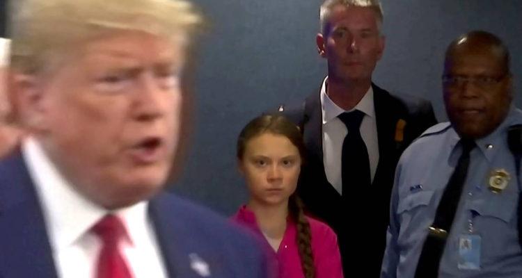 La respuesta llena de sarcasmo de Trump al discurso de Greta Thunberg por el cambio climático