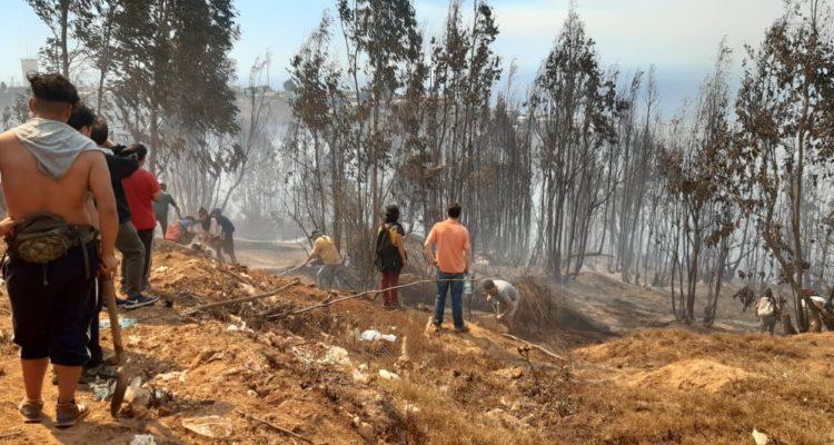 Autoridades apuntan a intencionalidad en incendios simultáneos registrados en Valparaíso