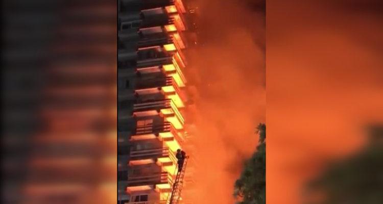 Incendio afectó a conocido edificio habitacional de 20 pisos en Osorno tras manifestaciones