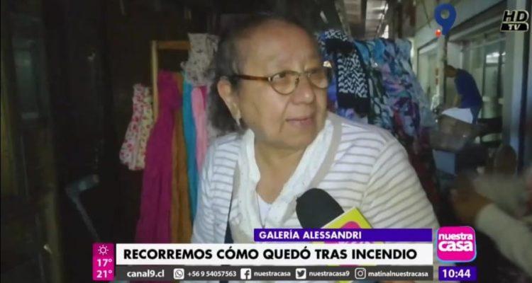 Afectada por incendio en Galería Alessandri: Invertí parte de mi jubilación en comprar este local