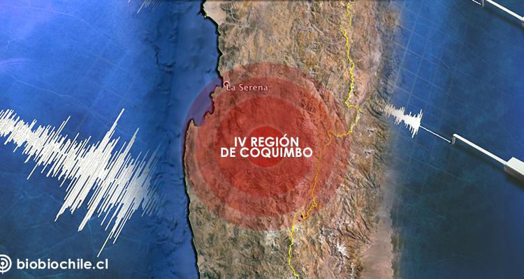 Sismo de mediana magnitud se percibió este miércoles en Coquimbo y Atacama