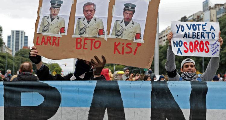 Comerciantes protestan en Buenos Aires contra la cuarentena obligatoria
