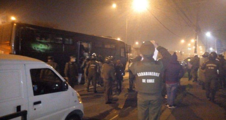 Diez detenidos por protesta en pandemia realizada en el límite comunal entre Hualpén y Talcahuano